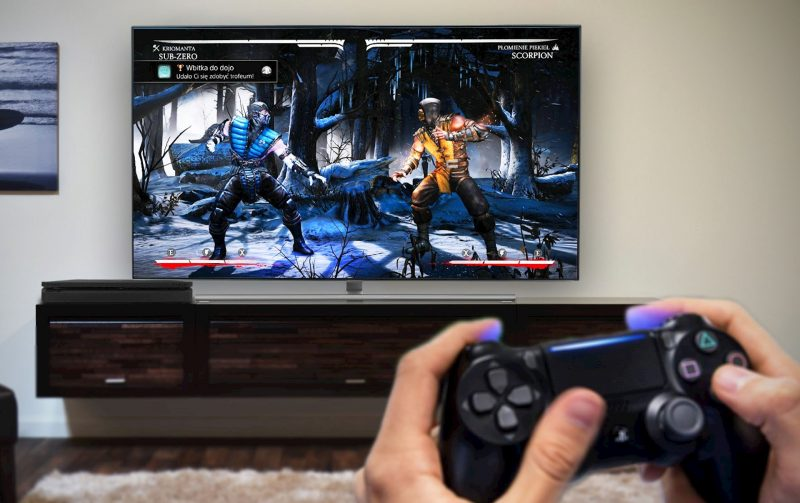 console gaming on tv